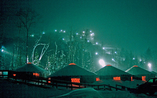 The Yurts at the base of Mount Bohemia provide cozy shelter for the night  - © Michigan Snowsports Industries Association