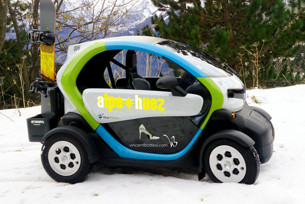 """Avec ses """"Twizy Montagne"""", l'Alpe d'Huez devient la première station de ski à proposer un parc de véhicules électriques en autopartage"""