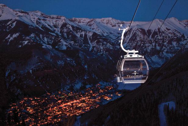 Nighttime descends on Telluride, Colorado. - ©Courtesy of Telluride Ski Resort