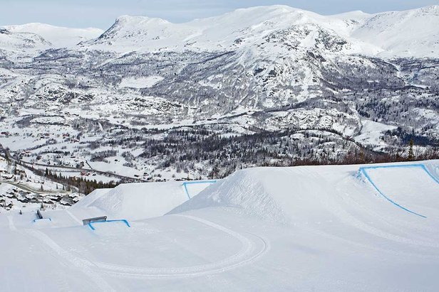 With a new location, updated layout and creative elements, the new Hemsedal Park has been well received by users. Foto by Kalle Hägglund.