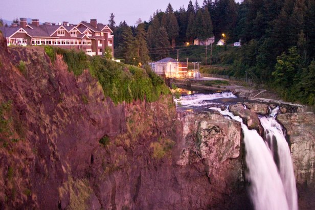 Salish Lodge overlooks Snoqualmie Falls.