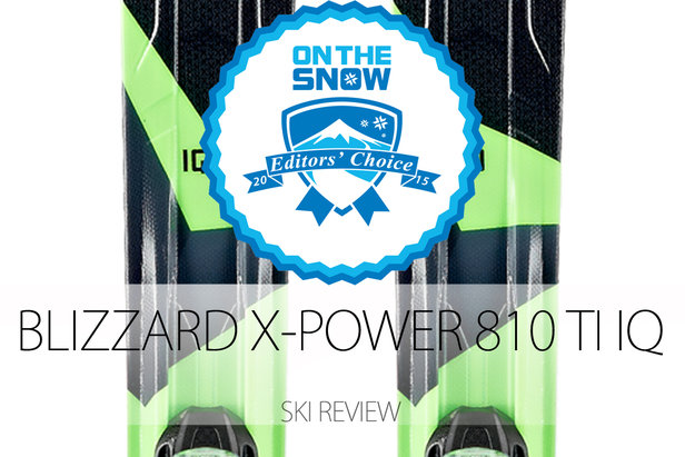 2015 Men's Frontside Editors' Choice Ski: Blizzard X-Power 810 TI IQ- ©Blizzard