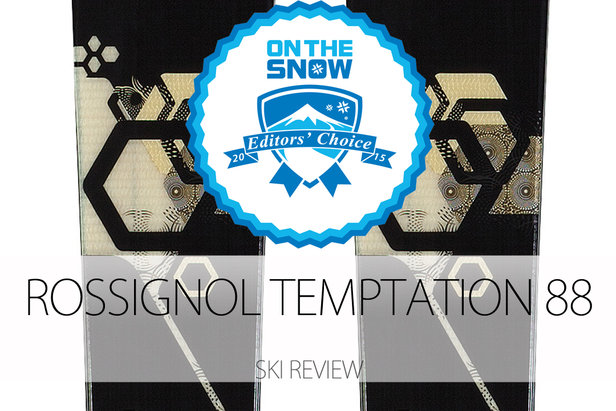 Rossignol Temptation 88, a 2015 Editors' Choice Women's All-Mountain Front Ski.