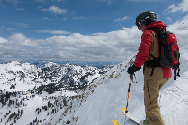 Standing above the Alta Chutes at Jackson Hole  - © Radloff