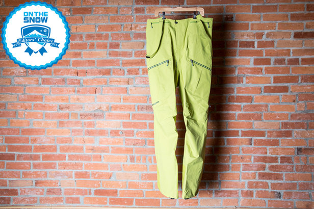 2015 Men's Ski Pants Editors' Choice: Patagonia PowSlayer Bibs ©Liam Doran