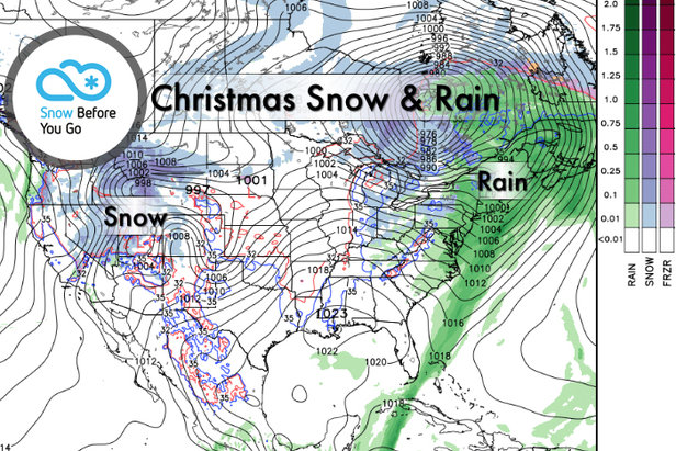 Snow Before You Go: Who Will Unwrap Powder on Christmas?- ©Meteorologist Chris Tomer
