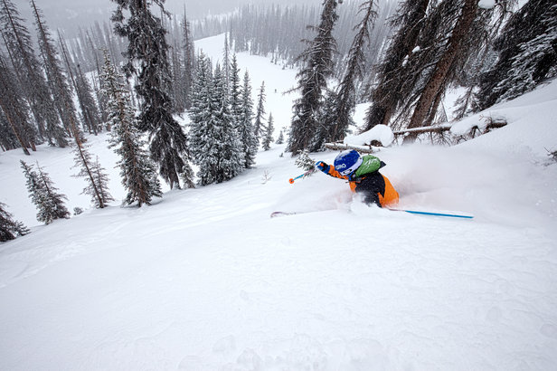 Sven Brunso getting the Wolf Creek goods after a recent storm.