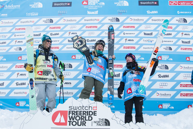 SWATCH FREERIDE WORLD TOUR 2015 BY THE NORTH FACE®: Walkner und Orley Zweite ©www.freerideworldtour.com / David Carlier