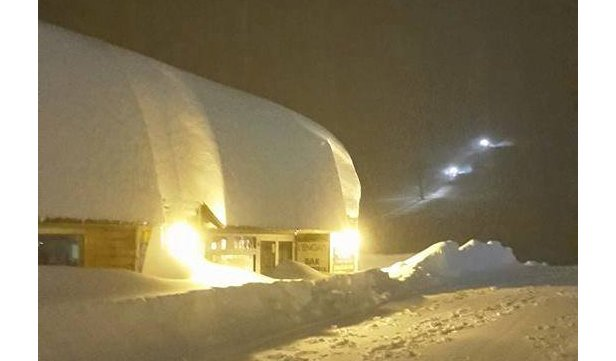 Piau Engaly (FRA) versinkt im Schnee