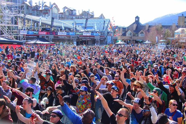 Outdoor concerts are a hallmark of the World Ski and Snowboard Festival at Whistler.  - © WSSF/Dave Humphreys