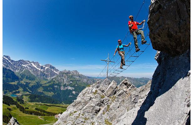 Klettersteig Brunnistoeckli in Engelberg
