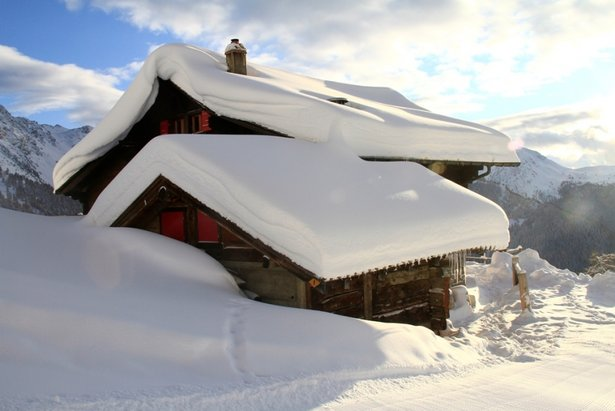 Ambiance hivernale à Nendaz (la Cabane Balavaux)
