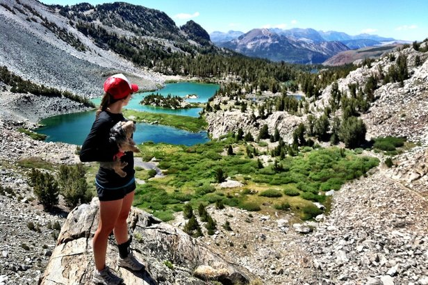 Kimmy Fasani takes a moment to look back at the scenery as she makes her way up Duck Pass. - ©Kimmy Fasani