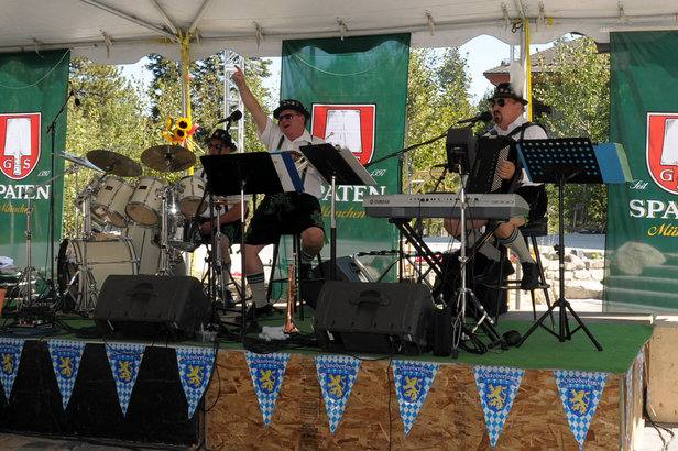 An oompah band at Mammoth's Oktoberfest.