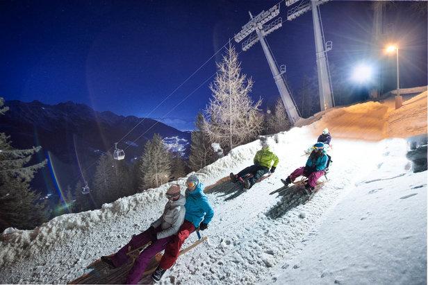 Nočná sánkovačka na Elferi - nezabudnuteľný zážitok!  - © Hochstubai-Liftanlagen GmbH, Elferbahnen