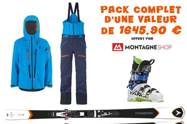 Pour Noël, Montagneshop vous propose de gagner une tenue de ski Scott, des skis Dynastar ainsi que des chaussures de ski Lange...