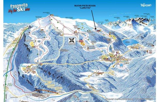 Paganella, mappa delle piste 2015/16  - © Paganella Ski