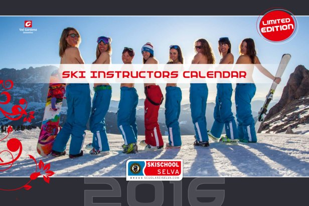 Calendario Maestre di Sci della Val Gardena 2016 - www.scuolasciselva.com - Miss Copertina