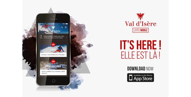 La nouvelle application mobile de Val d'Isère est disponible. A téélcharger et tester dès maintenant !