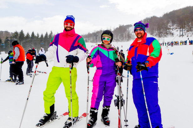 Skiers go retro 80s-style at Beech Mountain  - © Beech Mountain Resort