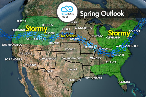Spring Skiing Forecast: March–May Predictions ©Meteorologist Chris Tomer