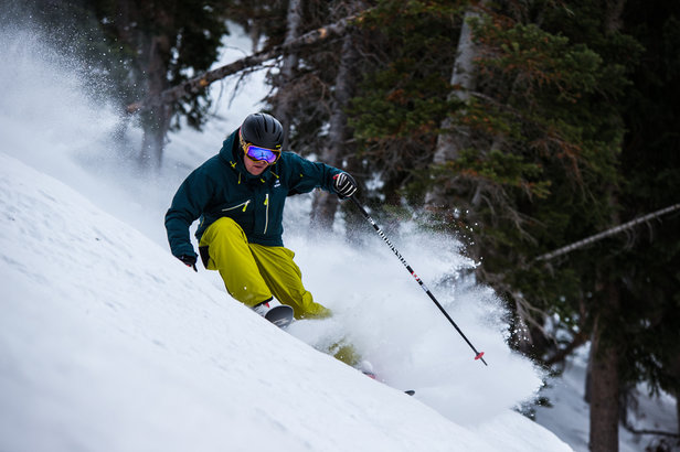 Get it, Tim! We tell time by how many skis this guy gets on. A Tim lapse, if you will.  - © Liam Doran