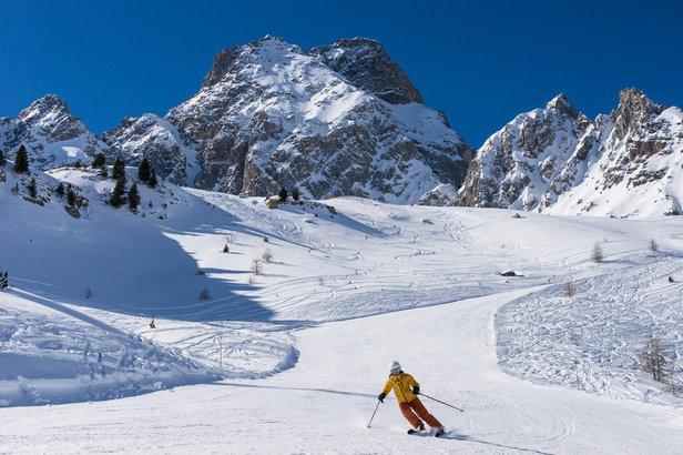 A l'image de Ceillac, les stations de ski du Queyras bénéficient actuellement d'un excellent enneigement...