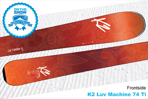 K2 Luv Machine 74 Ti, women's 16/17 Frontside Editors' Choice ski.  - © K2