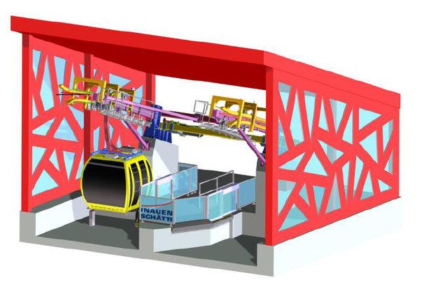 Das Kompaktseilbahnsystem: Automatische Perrontüren und ebenerdiger Zugang