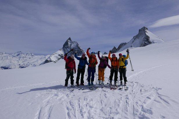 En veldig glad gjeng foran Matterhorn siste dagen.