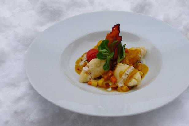 Skihauben-Gericht: Kürbisbutternockerl im Restaurant Weitblick im Gasteiner Tal  - © Gastein