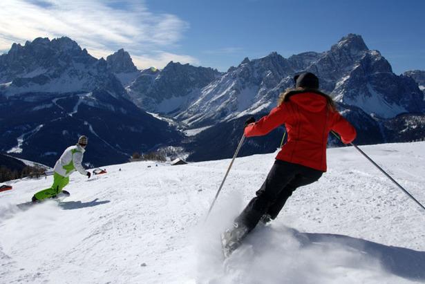 Skifahrer im Hochpustertal