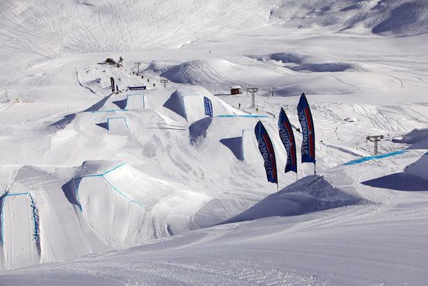Snowpark in Corvatsch