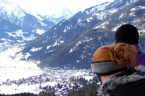 Panoramablick auf Ehrwald