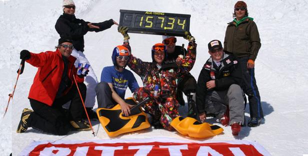 Geschwindigkeits- Weltrekord am Pitztaler Gletscher