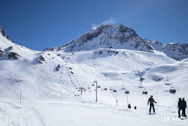 Bluebird skiing in Les Arcs 20/3/19  - © Les Arcs/Facebook