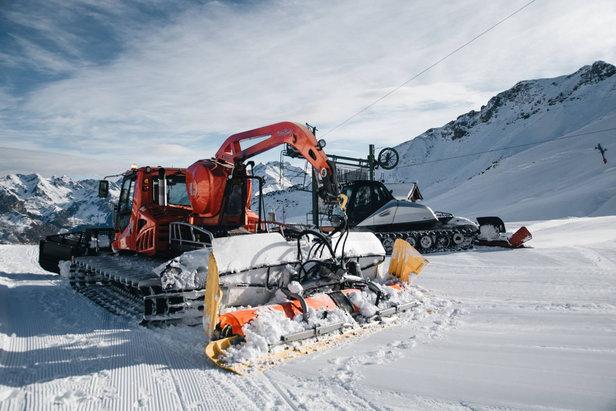 Parmi les investissements de cet hiver : 3 nouveaux engins de damage...