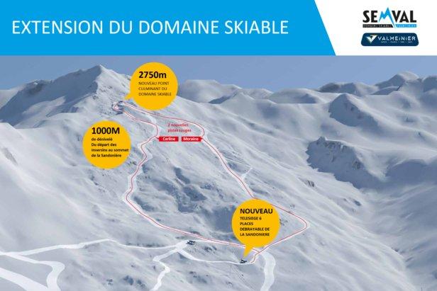 Le domaine skiable de Valmeinier s'agrandit et gagne en altitude- ©SEMVAL