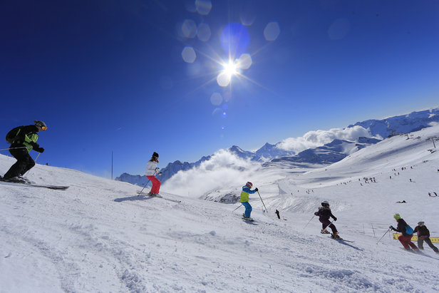 Les 2 Alpes version Printemps du Ski...- ©Office de Tourisme Les 2 Alpes / Monica DALMASSO