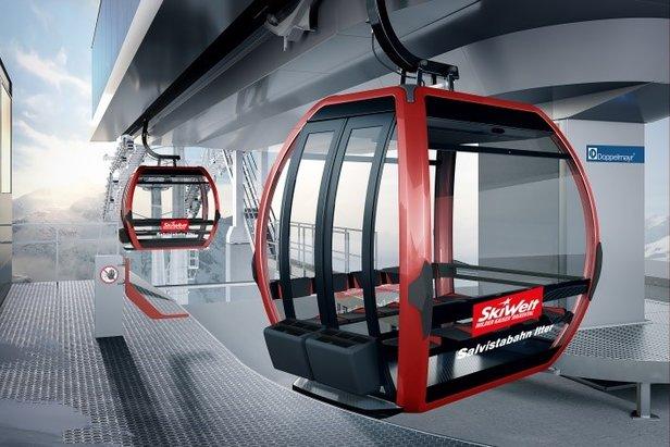 Neue 10er Gondelbahn für die SkiWelt Hopfgarten-Itter ©SkiWelt Wilder Kaiser-Brixental