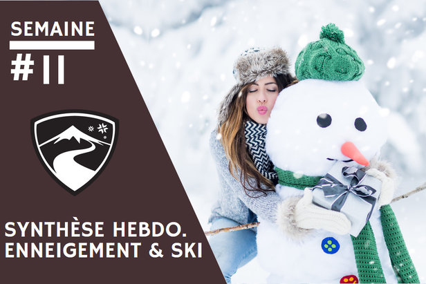 Rapport hebdomadaire du 11 mars 2020 et synthèse des conditions d'enneigement dans les stations de ski françaises (évolution des hauteurs de neige, taux d'ouverture des domaines skiables...)