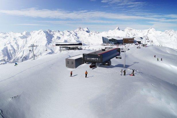 Bergstation der neuen Velilleck F1-Sesselbahn  - © Silvretta Arena AG
