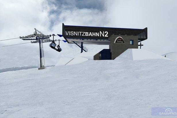 Vrcholová stanica Visnitzbahn - vizualizácia  - © Silvretta Arena AG