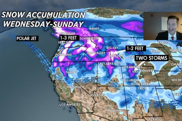 1-2 feet to hit the Pacific Northwest before moving to the Rockies by the weekend.