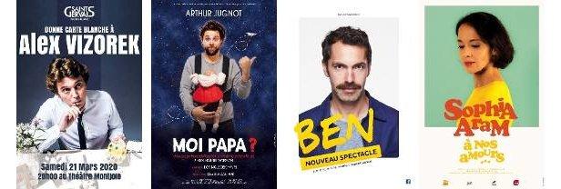 Têtes d'affiche du festival mont-blanc d'humour 2020 à saint gervais