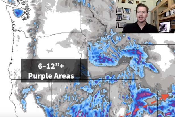 "Resorts in the West are expected to get 6-12"" or more Christmas Eve and Christmas Day."