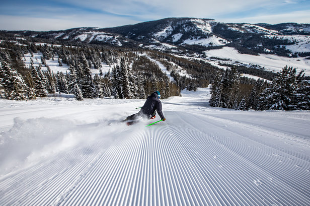 Endless corduroy, views, and solitude at Beaver Mountain.