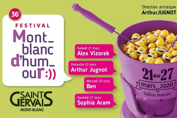 La 36ème édition du Festival Mont-Blanc d'humour se déroulera du 21 au 27 mars 2020 au Théâtre Montjoie de Saint-Gervais