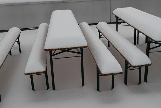 První sníh na ledovci Stubai - 6. září 2019