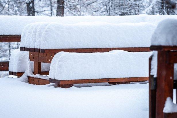 Neve fresca a Vars 4.12.2020